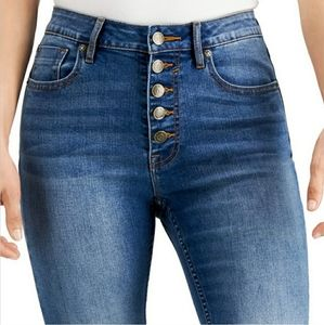 NWTS VIGOSS  BUTTON FLY STRETCH ANKLE JEANS 32X27